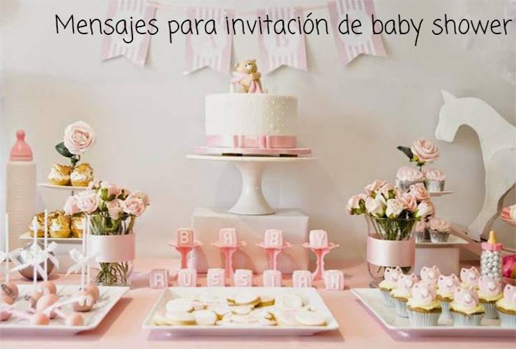 Mensajes para Invitación de Baby Shower
